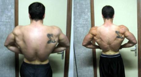 Avant-après en musculation d'Alan