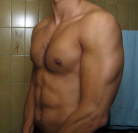 Avant-après en musculation de Laurent