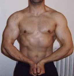 Avant-après en musculation de Laurent M
