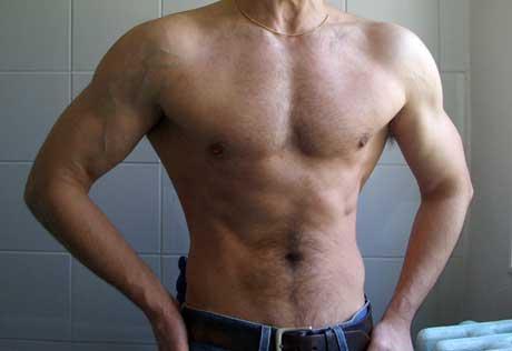 Avant-après en musculation de Xavier