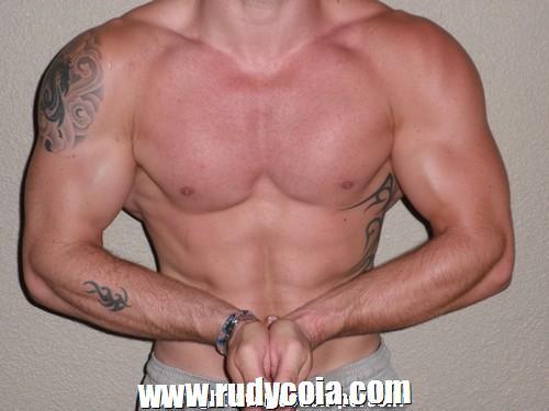 Avant-après en musculation de Yannick