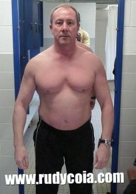 Avant-après en musculation de Claude