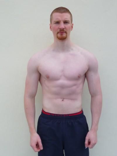 Avant-après en musculation de Jerome